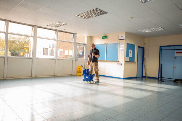 school classroom floor cleaning